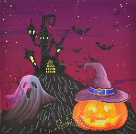 "Diamond Painting Kit HAPPY HALLOWEEN Diamond Dotz Facet Art Kit, Bling Wall Art, 16.5"" canvas kit0219"