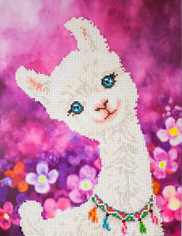 Diamond Painting Kit, Lulu Llama, Diamond Dotz Diamond Embroidery, Diamond Facet Art Bling Wall Art kit0239