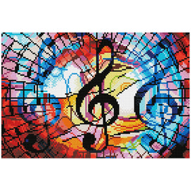 Diamond Painting Kit Triple Treble Music Diamond Dotz kit0458