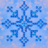 "Rhinestone Painting Kit, SNOWFLAKE SPARKLE Diamond Dotz Diamond Embroidery, Diamond Facet Art, Bling Wall Art 3x3"" canvas kit0111"