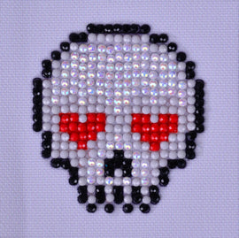 "Rhinestone Painting Kit, SUGAR SKULL Diamond Dotz Diamond Embroidery, Halloween Diamond Facet Art, Bling Wall Art 3x3"" canvas kit0117"