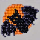 "Rhinestone Painting Kit, BAT Diamond Dotz Diamond Embroidery, Night Glider Halloween Diamond Facet Art, Bling Wall Art 3x3"" canvas kit0114"