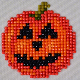 "Rhinestone Painting Kit, JACK O LANTERN Diamond Dotz Halloween 3x3"" canvas kit0118"