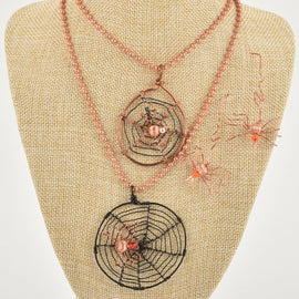 Wire Wrapping Spider Webs for Halloween, Thursday 10/8/20, 9am-noon