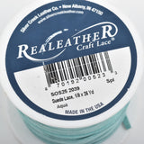 "1/8"" Suede Leather Lace, AQUA BLUE, real leather by the yard, Realeather made in USA, 3mm wide, 25 yards, Lth0030"