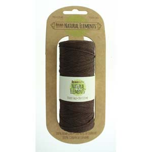Brown Hemp Cord 0.55mm, 50 grams, 394 ft cor0328