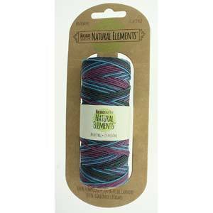 1.5mm Hemp Cord Party Purple Blue, 50 grams, 20 lb test, 197 ft. cor0322