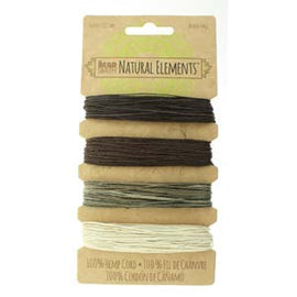 0.55mm Hemp Cord Neutral Colors, 4 pack, 10lb test, 53 yards, cor0311