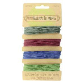 0.55mm Hemp Cord Dark Colors, 4 pack, 10lb test, 53 yards, cor0316