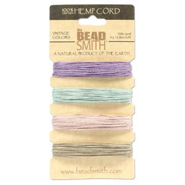 0.55mm Hemp Cord Vintage Colors, 4 pack, 10lb test, 53 yards, cor0307