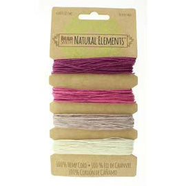 0.55mm Hemp Cord Ruby Pink Shades, 4 pack, 10lb test, 53 yards, cor0308