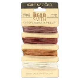 0.55mm Hemp Cord Bronze Shades, 4 pack, 10lb test, 53 yards, cor0360