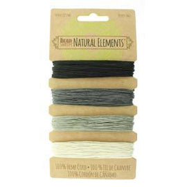 0.55mm Hemp Cord Onyx Shades, 4 pack, 10lb test, 53 yards, cor0361