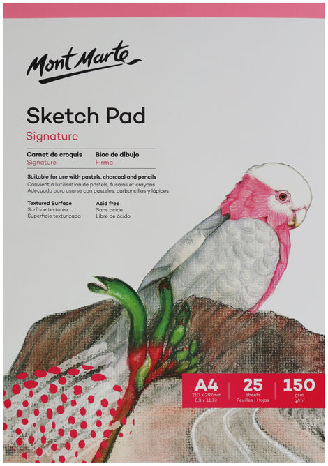 Sketch Pad 150gsm 25 Sheet A4 210 x 297mm (8.3 x 11.7in), pap0005