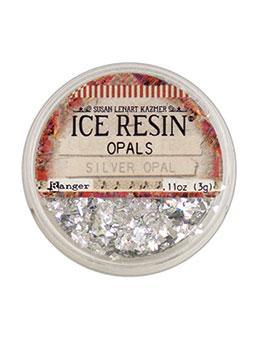 Silver Opal Iridescent Crushed Glitter for ICE Resin by Ranger .11oz cft0202