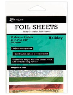 Foil Sheets Ice Resin, Holiday, 10 sheets cft0220