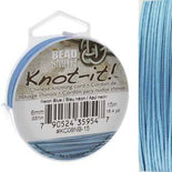 Chinese Knotting Cord Neon Blue 0.8mm, 15m, cor0408