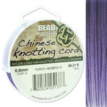 Chinese Knotting Cord Purple 0.8mm, 15m, cor0404