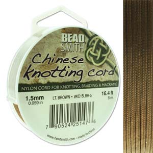 Chinese Knotting Cord Light Brown 1.5mm, 5m, cor0390