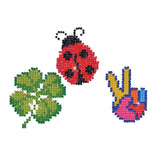 Diamond Dotz LUCK Ladybug Sparkle Stickers Rhinestone Facet Painting Kit kit0217
