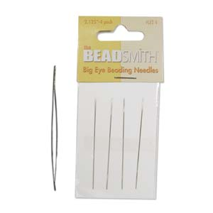 "Big Eye Beading Needles, 2.125"" 4pk, tol1149"
