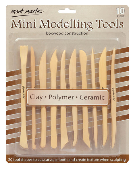 Polymer Clay Tools, Wooden, set of 10, tol1148