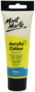 Acrylic Paint, Lemon Yellow, Semi-Matte, 75ml, pnt0171