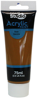 Acrylic Paint, Raw Sienna, Semi-Matte, 75ml, pnt0169