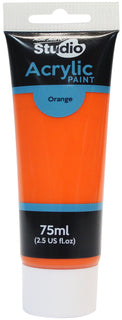 Acrylic Paint, Orange, Semi-Matte, 75ml, pnt0168