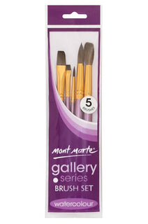 Gallery Paint Brush Set, for watercolor, set of 5 brushes, tol1122