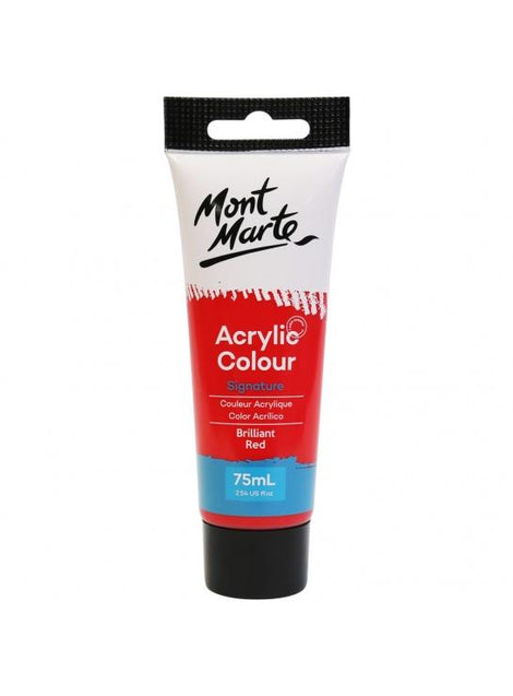 Acrylic Paint, Brilliane Red, Semi-Matte, 75ml, pnt0175