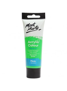 Acrylic Paint, Monastral Green, Semi-Matte, 75ml, pnt0183