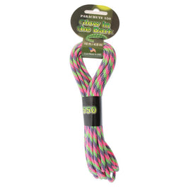 16ft Paracord 550 Bright Glow in the Dark 4.8mm Parachute Cord cft0119