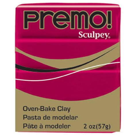 Premo Sculpey Oven Bake Clay, Allzarin Crimson Red, 2oz, cla0010