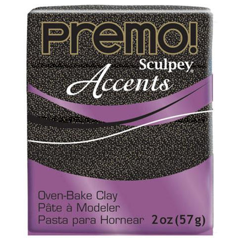 Premo Sculpey Accents Oven Bake Clay, Twinkle Black, 2oz, cla0018