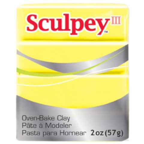 Sculpey III Oven Bake Clay, Lemonade Yellow, 2oz, cla0008