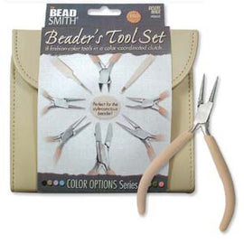Plier and Jewelry Tools Set with Clutch, Desert Beige, tol0977