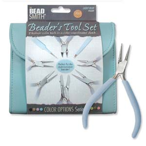 Plier and Jewelry Tools Set with Clutch, Light Blue, tol0975