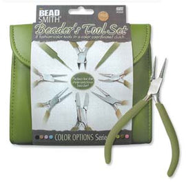 Plier and Jewelry Tools Set with Clutch, Olive Green, tol0978