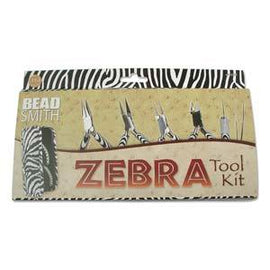 Zebra Print Jewelry Tool Set, 6 tools in zipper case, tol0955