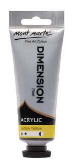 Acrylic Dimension Paint, Lemon Yellow, 75ml, pnt0116