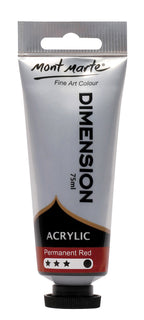 Acrylic Dimension Paint, Permanent Red, 75ml, pnt0110