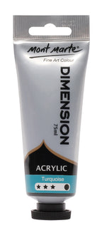 Acrylic Dimension Paint, Turquoise Blue, 75ml, pnt0124