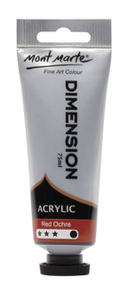 Acrylic Dimension Paint, Red Ochre, 75ml, pnt0145