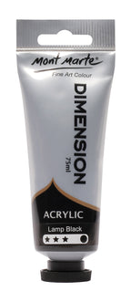 Acrylic Dimension Paint, Lamp Black, 75ml, pnt0119