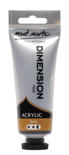 Acrylic Dimension Paint, Gold, 75ml, pnt0148