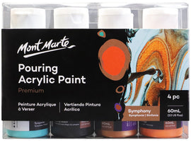Acrylic Pouring Paint, Symphony Set of 4 bottles, 60ml (2oz) each, pnt0151