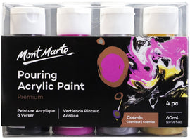 Acrylic Pouring Paint, Cosmic Set of 4 bottles, 60ml (2oz) each, pnt0096