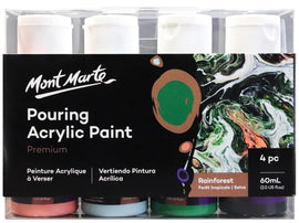 Acrylic Pouring Paint, Rainforest Set of 4 bottles, 60ml (2oz) each, pnt0158