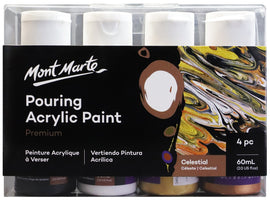 Acrylic Pouring Paint, Celestial Set of 4 bottles, 60ml (2oz) each, pnt0157